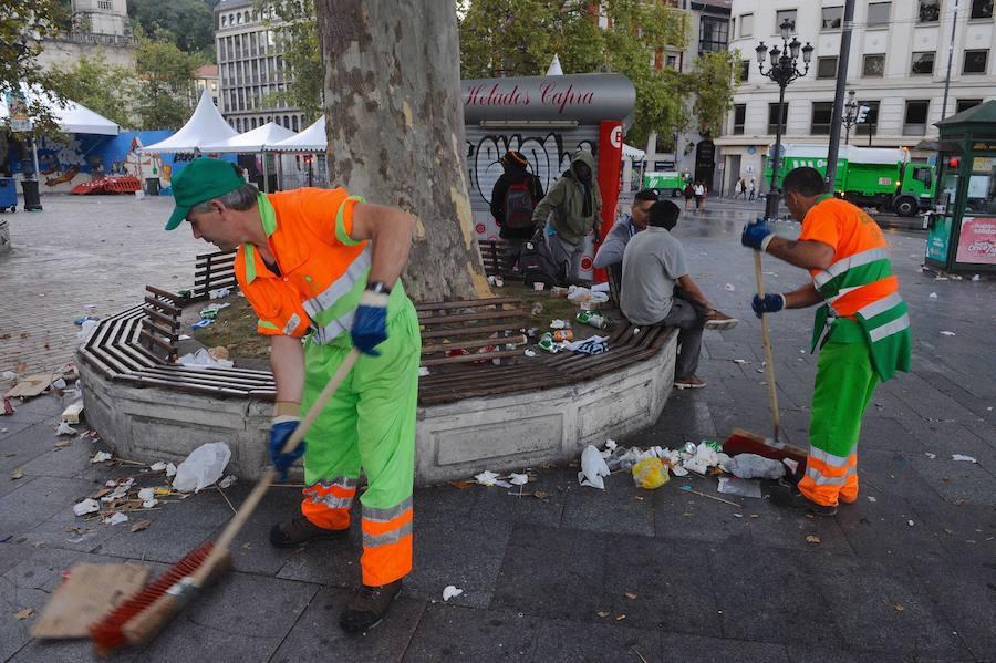Más de 600 personas limpiarán Bilbao en Aste Nagusia