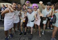 Fiesta de pijamas en el Puerto Viejo de Getxo