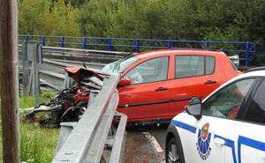 Muere un conductor en Arrigorriaga al caer por un puente tras sufrir un accidente