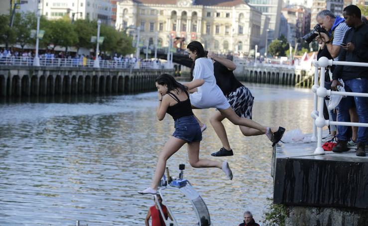 Aste Nagusia 2018: Tras el txupin... chapuzón en la Ría de Bilbao
