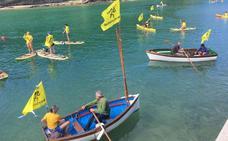 Protesta en las playas de Plentzia y Gorliz contra las políticas migratorias europeas