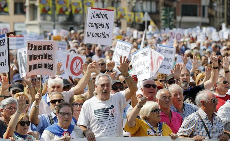 Manifestación por unas pensiones «dignas» en plena Aste Nagusia