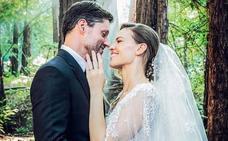 Hilary Swank se casa en un bosque