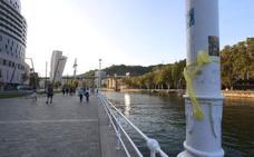 Los lazos amarillos por la libertad de los presos catalanes llegan a Bilbao