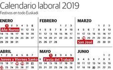 Calendario escolar 2018 - 2019 en Euskadi