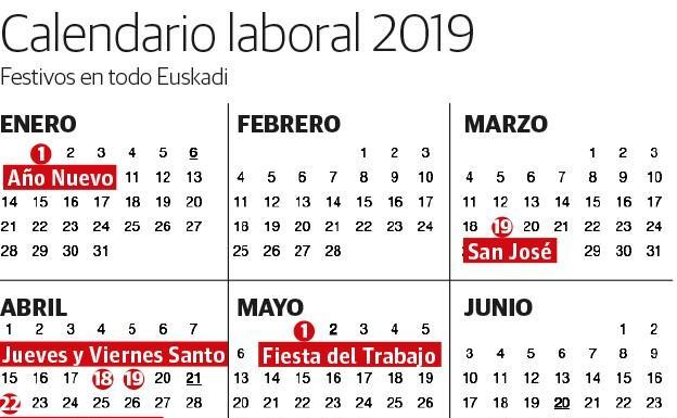 Calendario Laboral Castilla Y Leon 2020.Calendario Escolar 2018 2019 En El Pais Vasco El Correo
