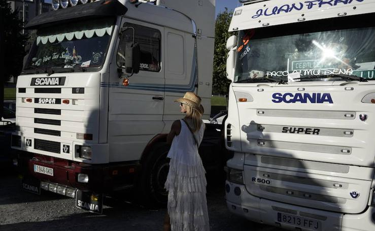 Los camioneros se exhiben en Barakaldo