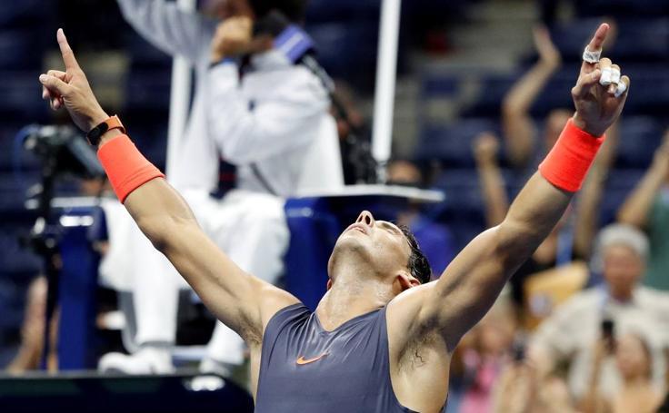 Las mejores imágenes del partido entre Rafa Nadal y Dominic Thiem