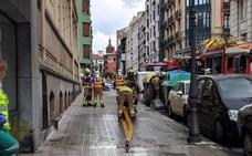 Un incendio sin heridos obliga a desalojar una vivienda en Indautxu
