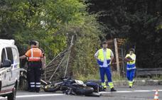 Fallece un cuarto motorista accidentado este verano en las carreteras vizcaínas