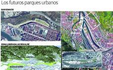 Cuatro nuevos parques dotarán a Bilbao de zonas verdes del tamaño de 15 estadios