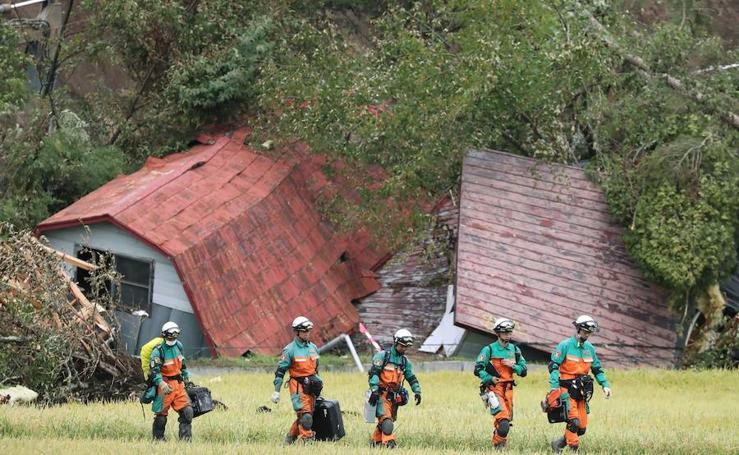 Viaje al epicentro del terremoto de la isla japonesa de Hakkido