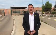 Otegi visita a los políticos catalanes presos en la cárcel de Lledoners