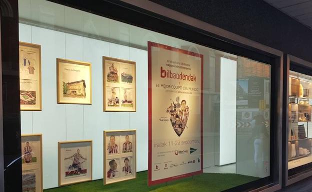 La pasión por el Athletic recorre los escaparates de Bilbao  b3772be12d1ad