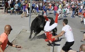 Dos heridos en el Toro de la Vega en Tordesillas