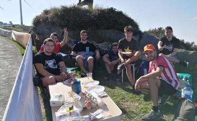 Expectación de los aficionados en el monte Oiz: «Si gana alguien de por aquí, va a ser el no va a más»