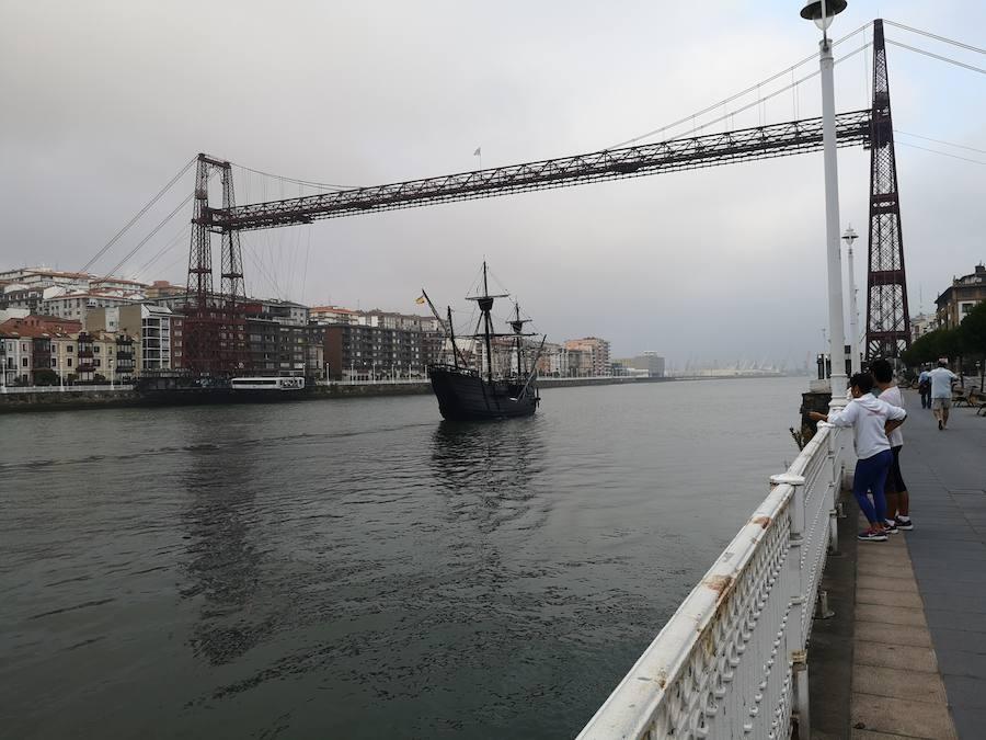 La réplica de la Nao Victoria deja Bilbao y continúa su periplo