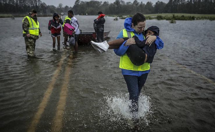 Las fotos del huracán Florence a su paso por Carolina del Norte