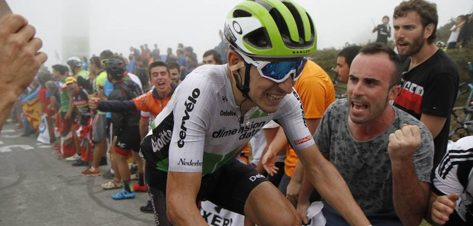 Igor Antón corre su última etapa como ciclista