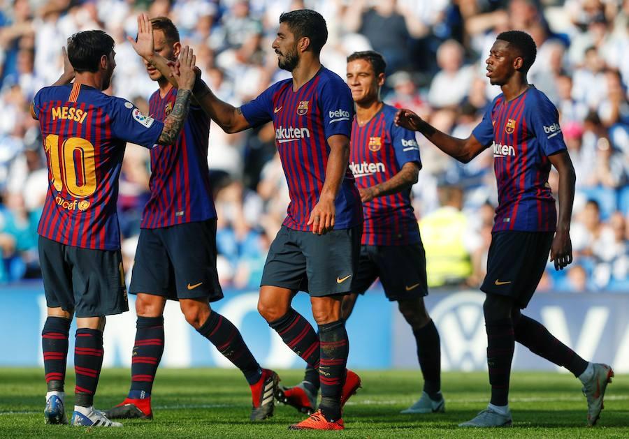 Las mejores imágenes del Real Sociedad-Barcelona