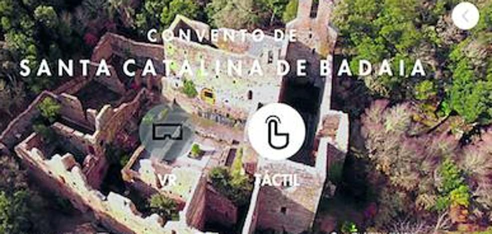 Una 'app' para viajar en el tiempo por el jardín de Santa Catalina
