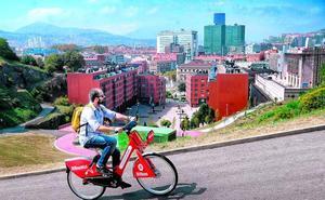 A pedales por las cuestas de Bilbao y sin esfuerzo