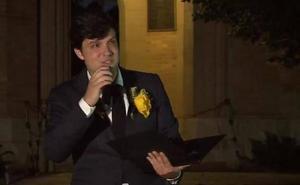 Las emocionantes palabras del novio de la golfista asesinada en el homenaje en su universidad