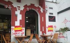 Realizan pintadas en el batzoki de Barakaldo