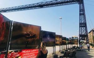 Una muestra para remover conciencias en el Puente Bizkaia