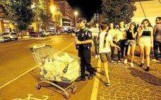 La Policía Local requisó 542 litros de alcohol a menores en las fiestas de Las Mercedes