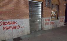 Aparece pintadas a favor de los presos de ETA en el batzoki de Gernika