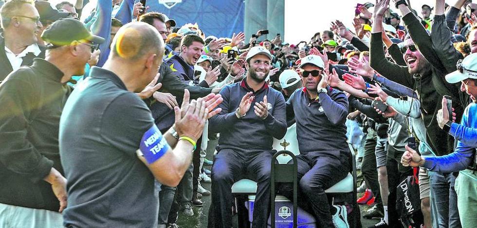 Los «¡Aupa Jon!» animan la Ryder Cup
