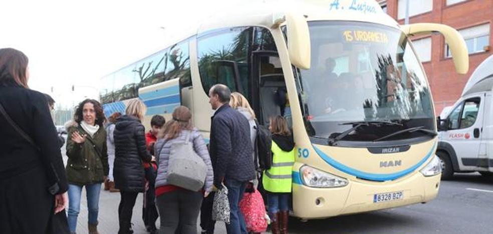 El Gobierno vasco da marcha atrás y permitirá a los niños de 2 años viajar en los autobuses escolares
