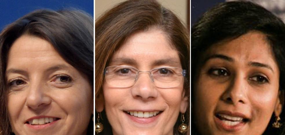 Tres mujeres manejan la economía mundial
