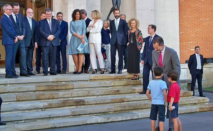 El Rey Felipe VI visita el Museo de Bellas Artes de Bilbao con motivo de su remodelación