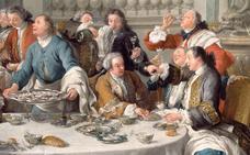 Banquetes del siglo XVIII en Bilbao con 30 platos, café y licores