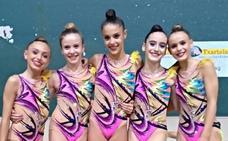 Beti Aurrera y Ritmica Vitoria, campeonas de Euskadi junior y alevín por conjuntos