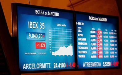 El Ibex-35 baja a los 9.000 y marca otro mínimo desde 2016