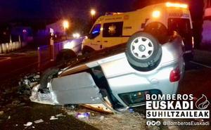 Tres heridos en un accidente en Vitoria en el que el conductor ha dado positivo en alcohol