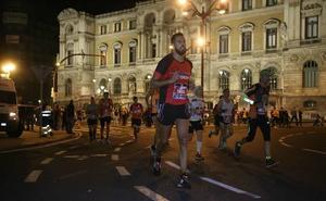 El maratón nocturno de Bilbao restringirá el tráfico en el centro de la ciudad