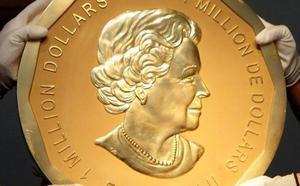 Detenidos los ladrones de la moneda del millón de dólares