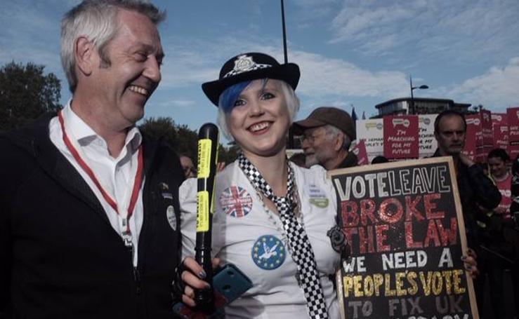 La manifestación de Londres por otro referéndum, en imágenes