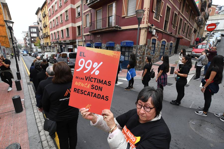 Marcha contra la trata de mujeres en Bilbao