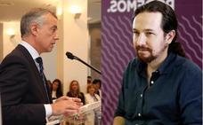 El lehendakari Urkullu y Pablo Iglesias se reunirán este lunes en Vitoria