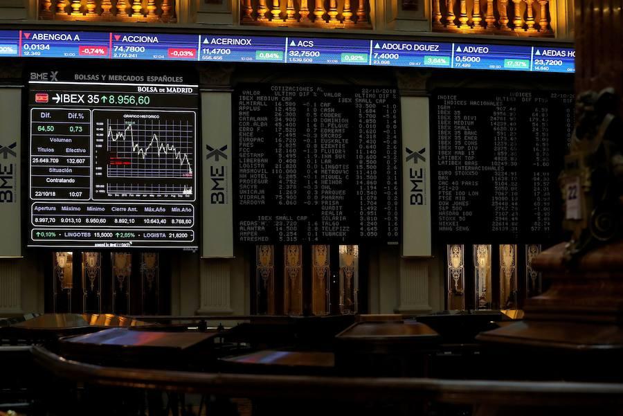 El Ibex-35 salva los 8.800 presionado por la banca y Dia