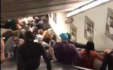 Al menos 20 heridos al ceder una escalera mecánica en el metro de Roma