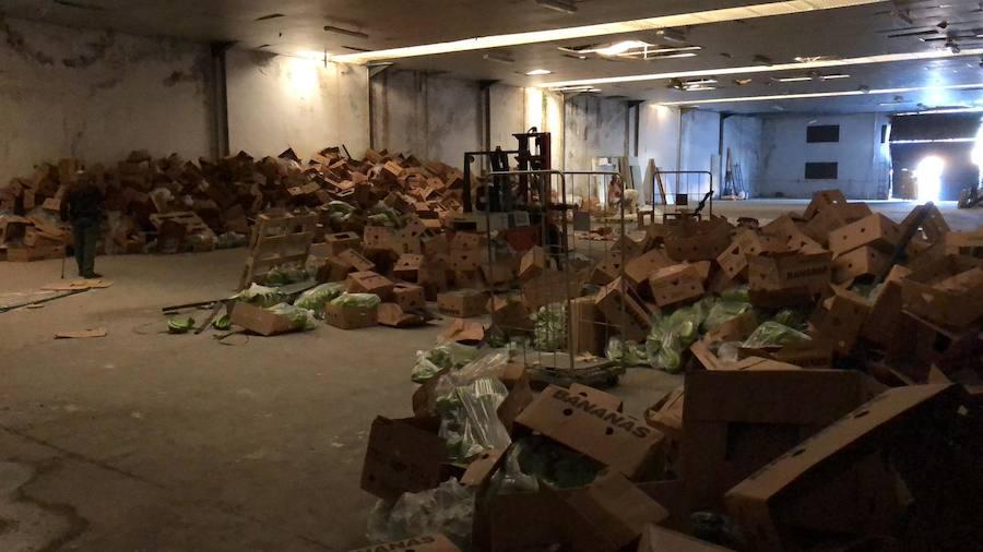 6.000 kilos de cocaína intervenidos en un cargamento de bananas en Málaga