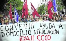 1.500 trabajadoras de ayuda a domicilio, llamadas hoy a la huelga