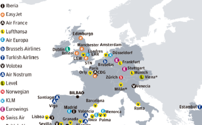 El aeropuerto contará este invierno con 22 destinos internacionales, más que nunca