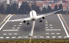 Un nuevo sistema láser en el aeropuerto de Loiu para evitar imágenes como esta